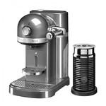 капсульная Nespresso +  Aeroccino 3 серебряный медальон 5KES0504EMS